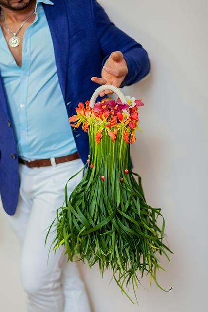 Букет невесты с орхидеями - Зеленый шарм