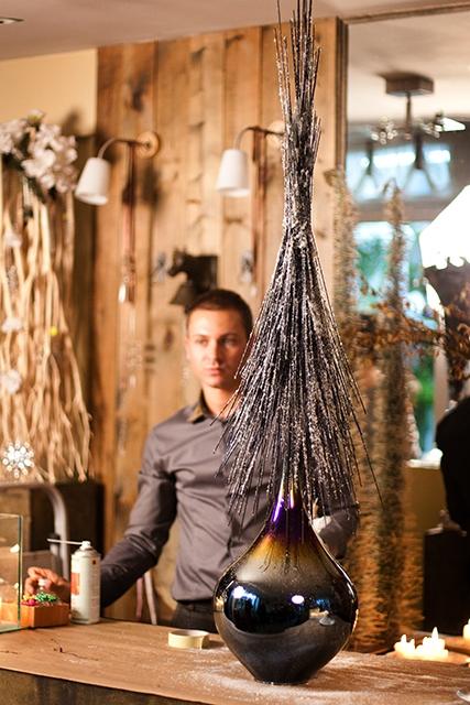 Новогодняя композиция - Заснеженная ель
