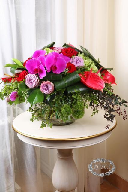 Букет с барбарисом и розами - Классический ампир