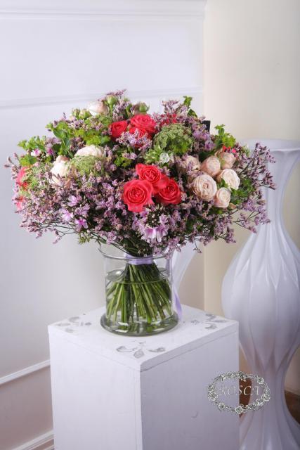 Букет с розами Барбадос - Прованские штучки