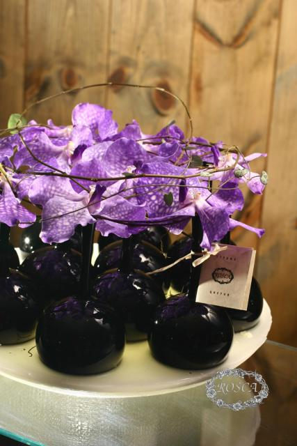 Композиция цветов из орхидей Ванда - Сиреневый туман