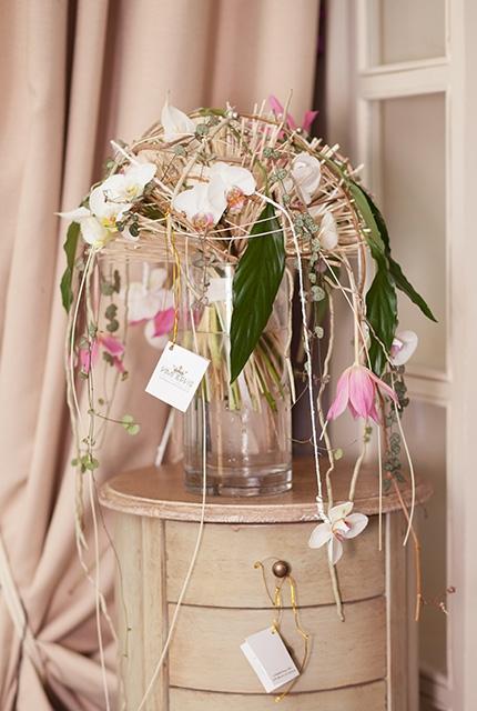 Букет с тюльпанами - Белые искры