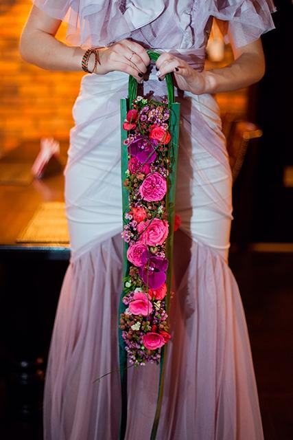 Букет невесты с орхидеями и розами - Шарм агавы
